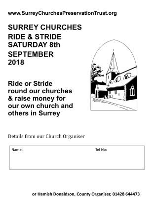 Ride & Stride 2018