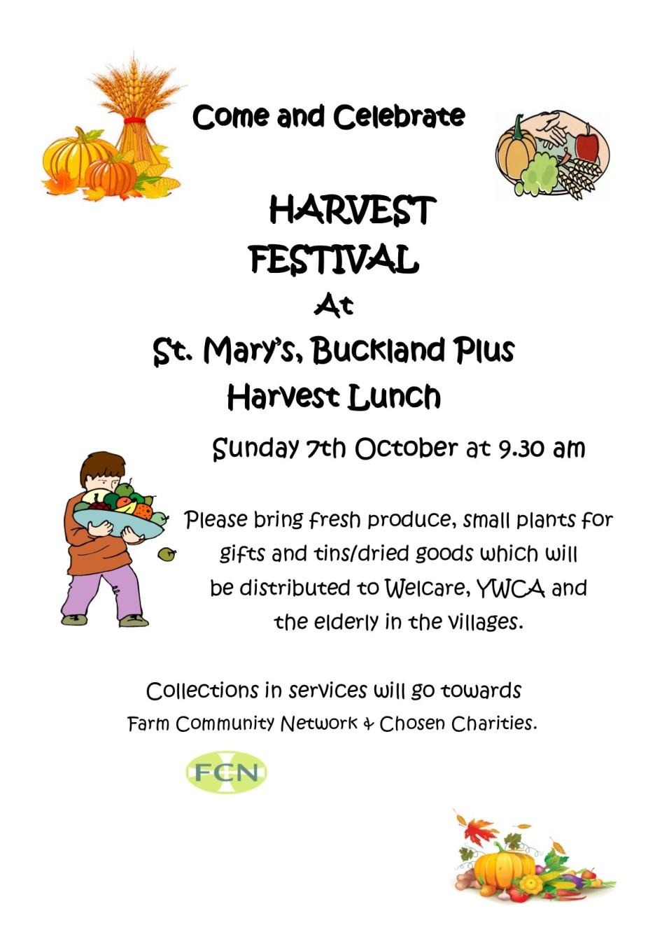 Harvest 2018 St. Mary's.