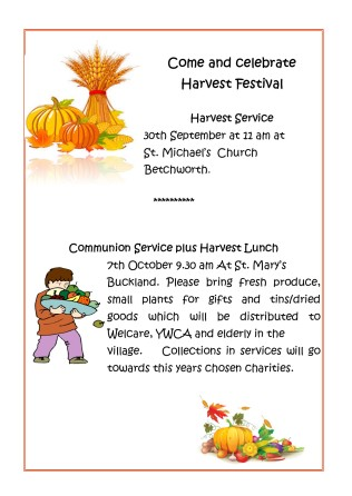 Harvest 2018 - St. Michael's and St. Mary's.