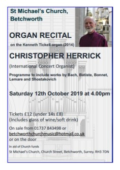 Organ Recital October